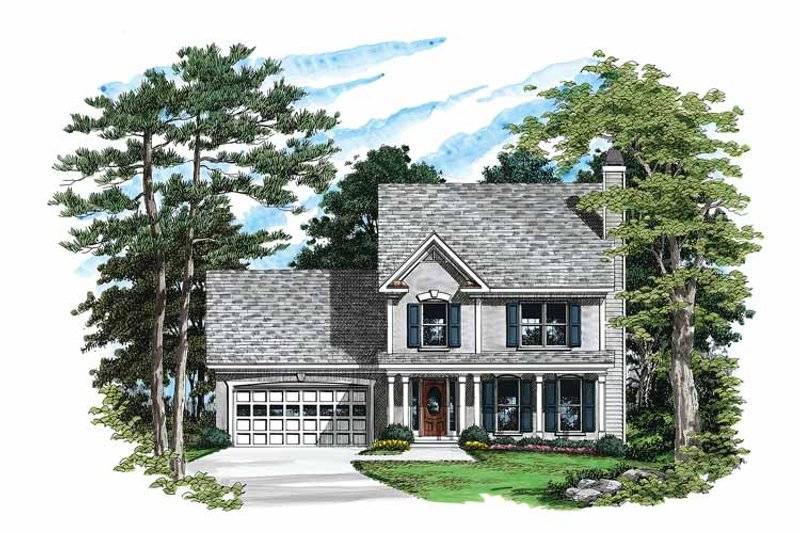 Country Exterior - Front Elevation Plan #927-49