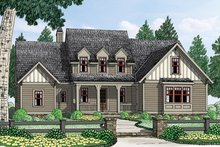 Colonial Exterior - Front Elevation Plan #927-969