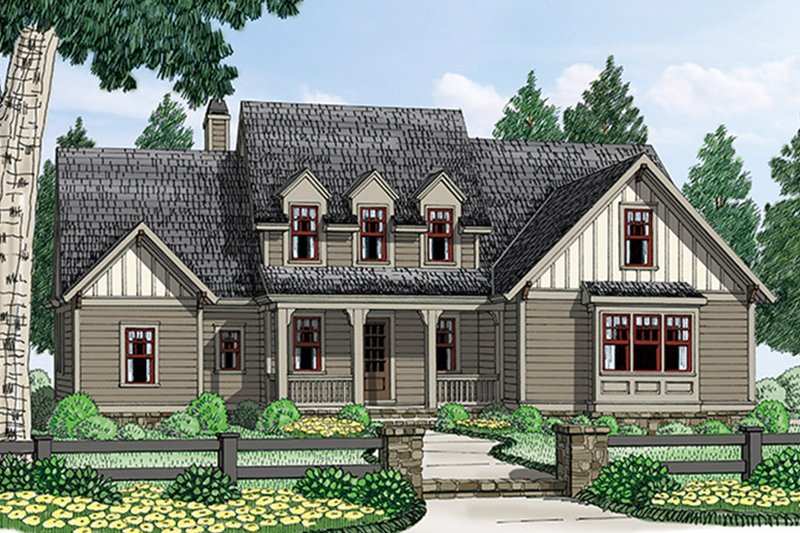 Colonial Exterior - Front Elevation Plan #927-969 - Houseplans.com
