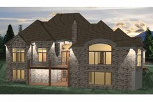 Country Exterior - Rear Elevation Plan #937-7