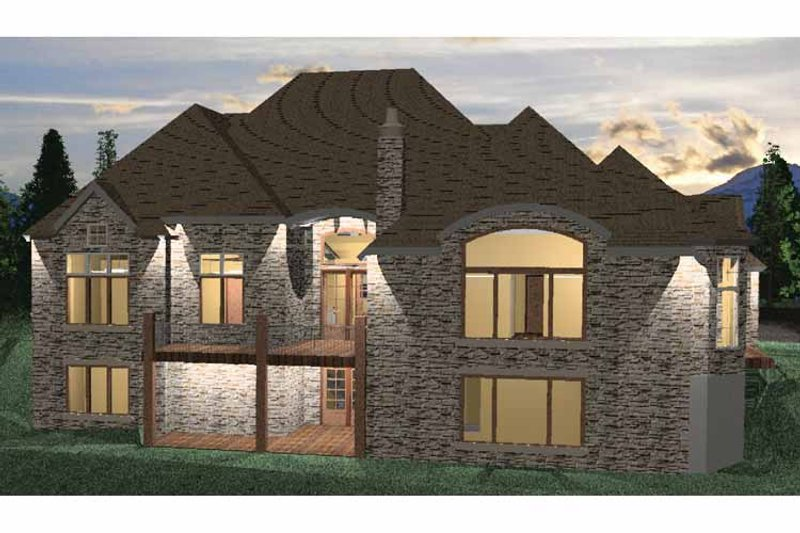 Country Exterior - Rear Elevation Plan #937-7 - Houseplans.com