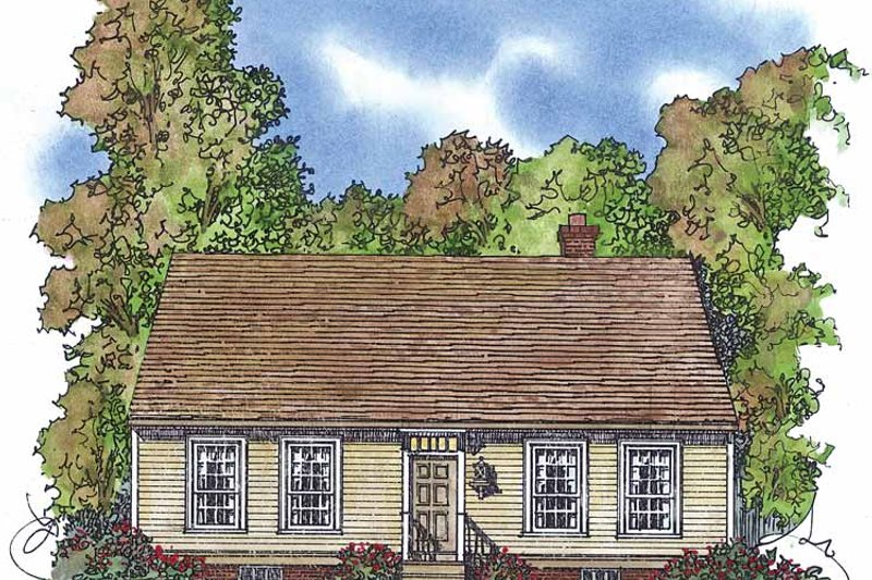 Colonial Exterior - Front Elevation Plan #1016-74