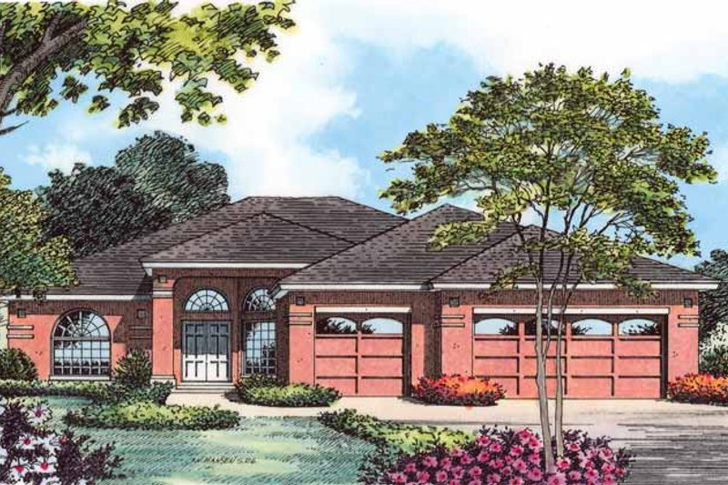 Traditional Exterior - Front Elevation Plan #1015-20 - Houseplans.com
