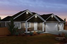 Architectural House Design - Ranch Exterior - Front Elevation Plan #1060-11