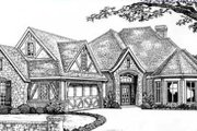 Tudor Style House Plan - 3 Beds 2.5 Baths 2452 Sq/Ft Plan #310-532 Exterior - Front Elevation
