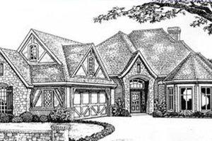 Tudor Exterior - Front Elevation Plan #310-532