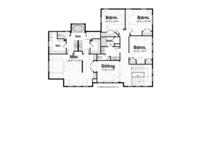 Prairie Floor Plan - Upper Floor Plan Plan #928-248