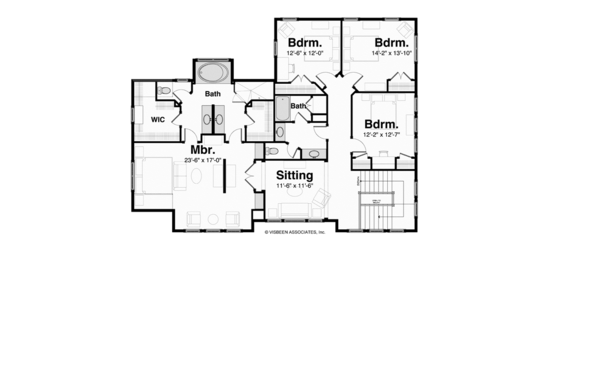 Prairie Floor Plan - Upper Floor Plan Plan #928-248