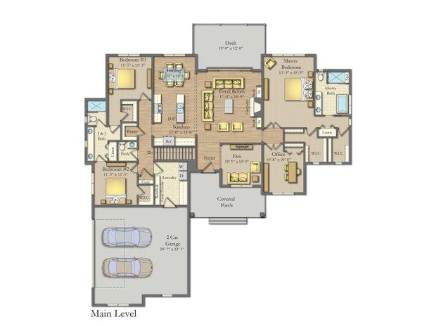 Craftsman Floor Plan - Main Floor Plan #1057-18