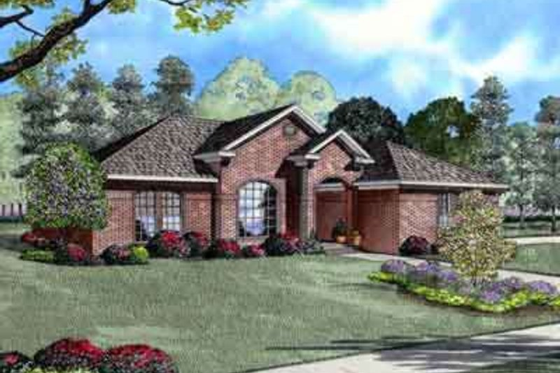 European Style House Plan - 3 Beds 2 Baths 1807 Sq/Ft Plan #17-2140 Exterior - Front Elevation