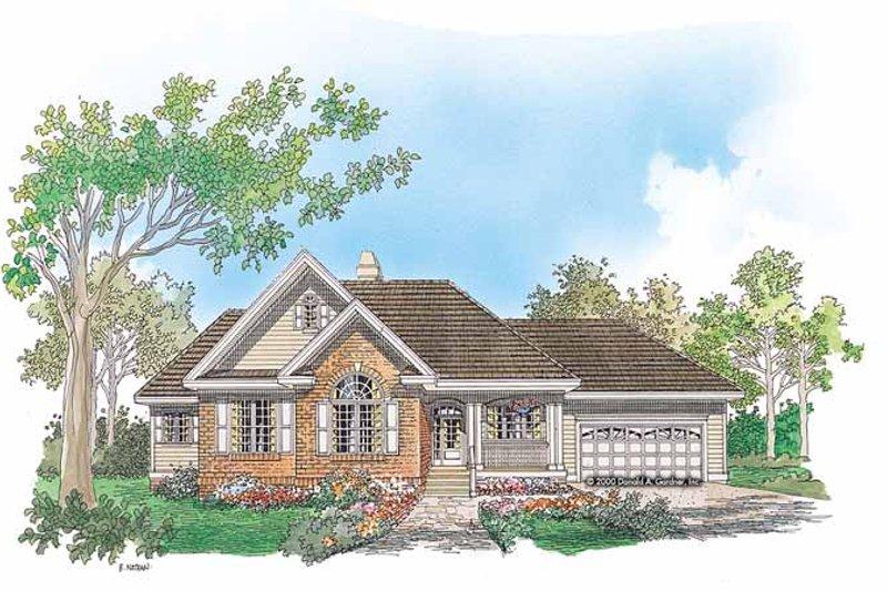 House Plan Design - Ranch Exterior - Front Elevation Plan #929-631
