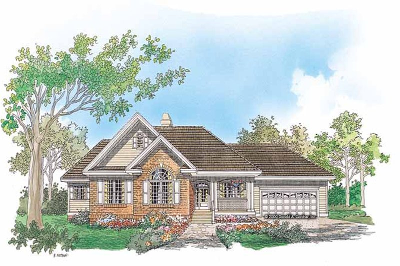 Architectural House Design - Ranch Exterior - Front Elevation Plan #929-631