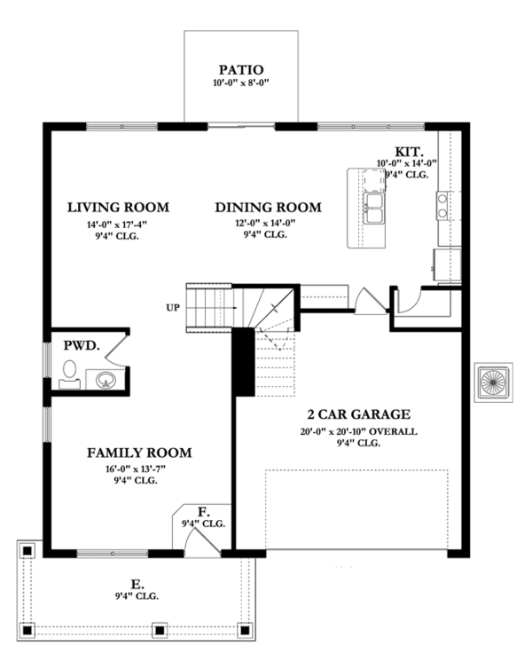 Mediterranean Floor Plan - Main Floor Plan Plan #1058-62