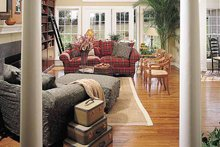 Country Interior - Family Room Plan #929-377