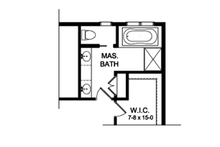House Plan Design - Colonial Interior - Master Bathroom Plan #1010-196