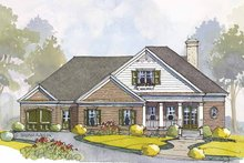 Colonial Exterior - Front Elevation Plan #429-443