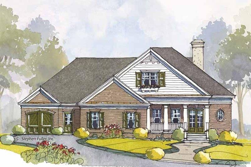 Colonial Exterior - Front Elevation Plan #429-443 - Houseplans.com