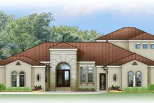 Mediterranean Exterior - Front Elevation Plan #1058-84