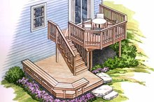 Home Plan - Exterior - Rear Elevation Plan #1006-126