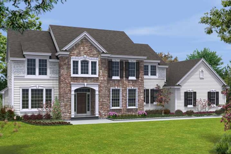Traditional Exterior - Front Elevation Plan #328-448 - Houseplans.com