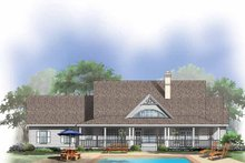 Country Exterior - Rear Elevation Plan #929-432