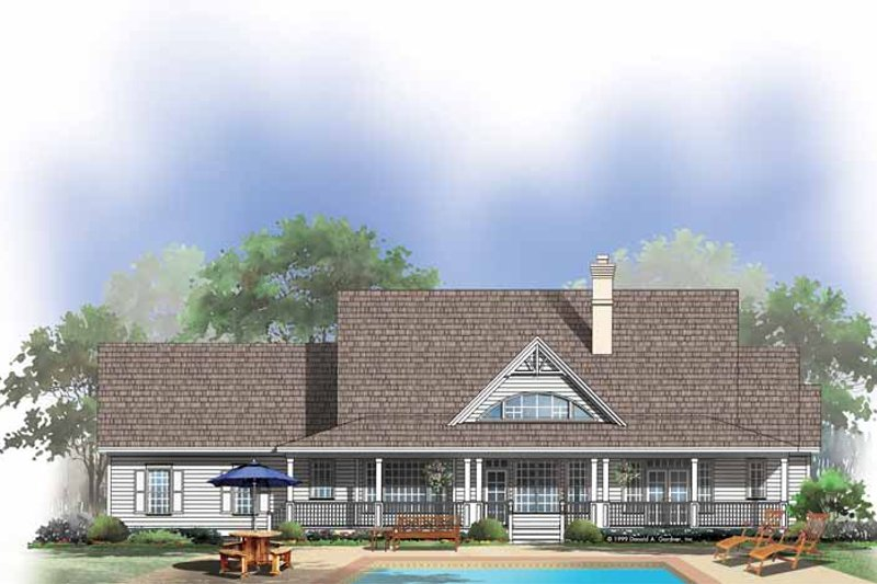 Country Exterior - Rear Elevation Plan #929-432 - Houseplans.com