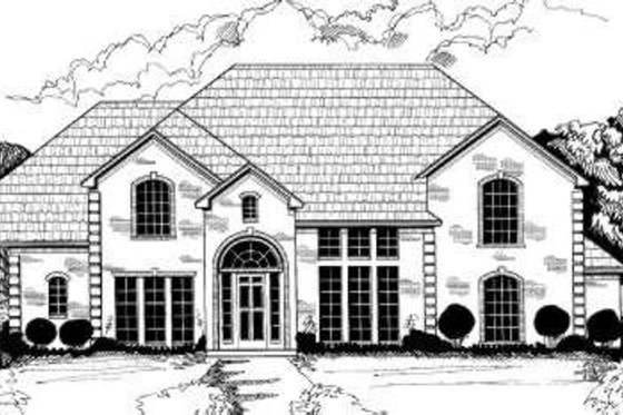 European Exterior - Front Elevation Plan #317-108