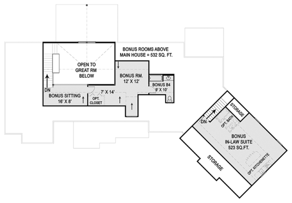 Craftsman Floor Plan - Other Floor Plan Plan #119-426
