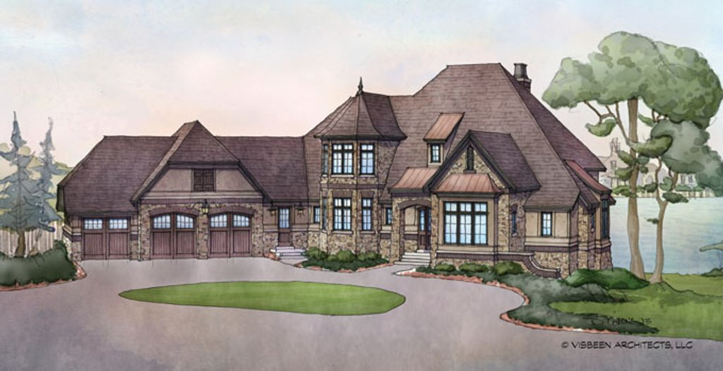 Country style house plan 3 beds 3 5 baths 3698 sq ft for Country style house