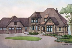 Country Exterior - Front Elevation Plan #928-269