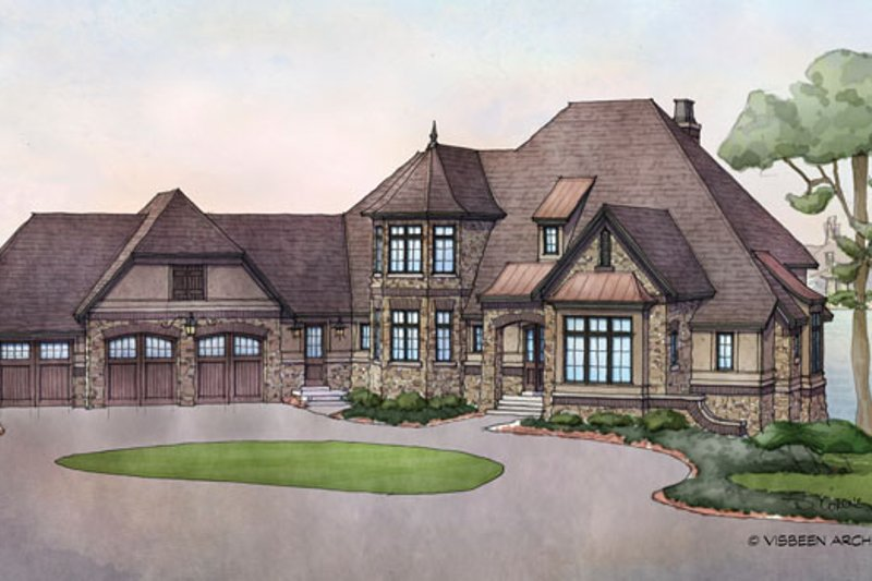Architectural House Design - Country Exterior - Front Elevation Plan #928-269