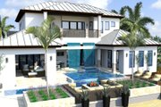 Contemporary Style House Plan - 4 Beds 6 Baths 6300 Sq/Ft Plan #548-21 Exterior - Rear Elevation
