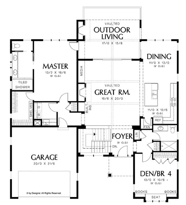 Home Plan - Traditional Floor Plan - Main Floor Plan #48-860