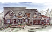 House Plan Design - Craftsman Exterior - Front Elevation Plan #54-368