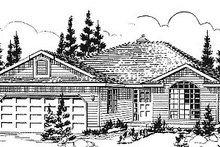 Ranch Exterior - Front Elevation Plan #18-178