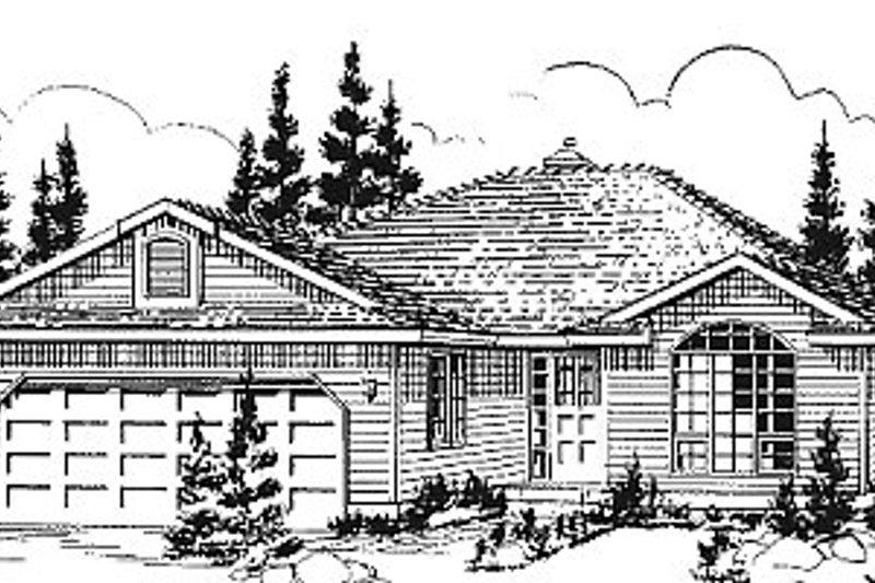 House Blueprint - Ranch Exterior - Front Elevation Plan #18-178