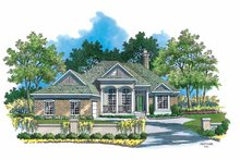 Ranch Exterior - Front Elevation Plan #930-122