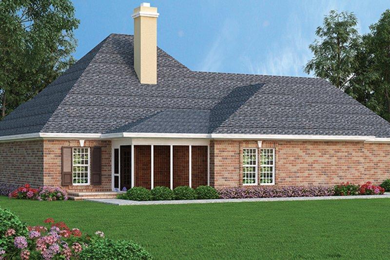 Traditional Exterior - Rear Elevation Plan #45-567 - Houseplans.com