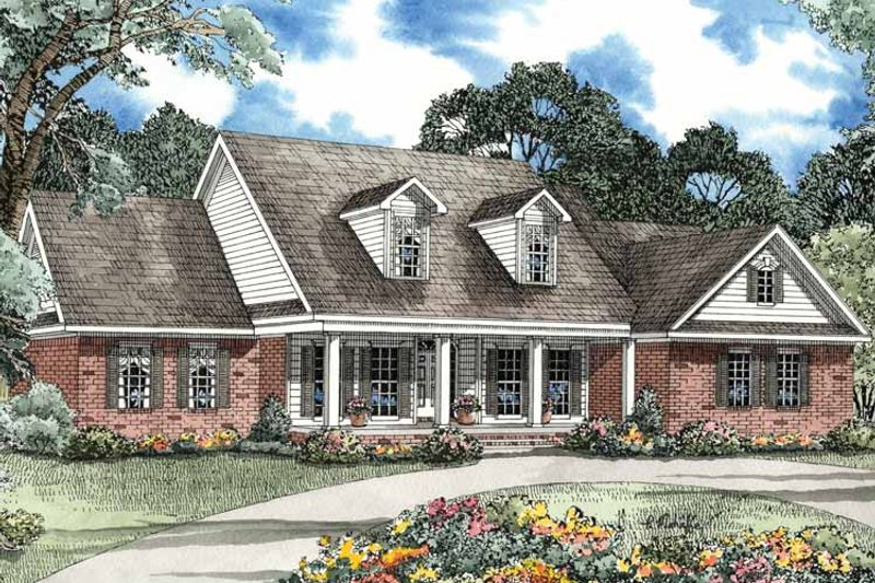 Country Exterior - Front Elevation Plan #17-3145 - Houseplans.com