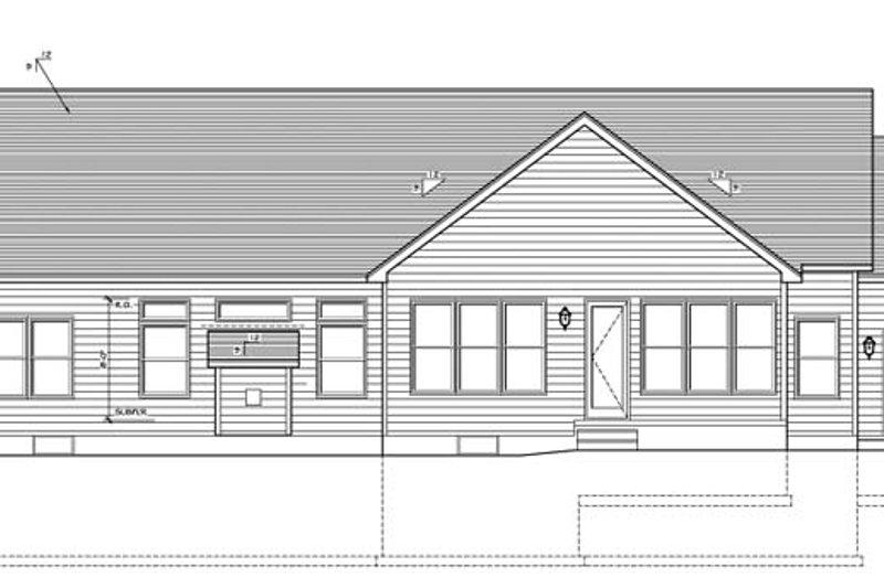 Ranch Exterior - Rear Elevation Plan #1010-76 - Houseplans.com