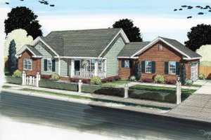 Home Plan - Traditional Exterior - Front Elevation Plan #513-2121
