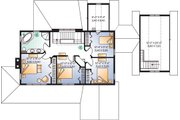 Traditional Style House Plan - 4 Beds 2 Baths 2393 Sq/Ft Plan #23-2173 Floor Plan - Upper Floor