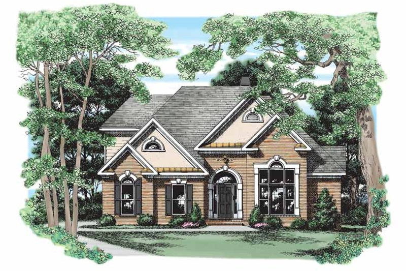 Traditional Exterior - Front Elevation Plan #927-244 - Houseplans.com