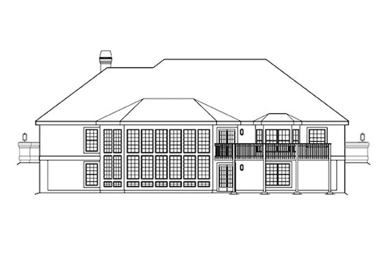 Traditional Exterior - Rear Elevation Plan #57-360 - Houseplans.com