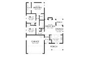Farmhouse Style House Plan - 3 Beds 2 Baths 1196 Sq/Ft Plan #48-1031 Floor Plan - Main Floor