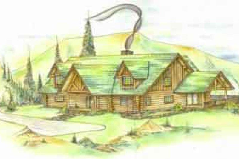 Home Plan - Log Exterior - Front Elevation Plan #117-120