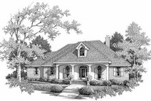 Southern Exterior - Front Elevation Plan #14-159