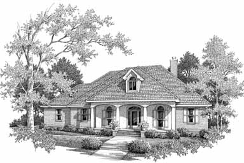 Dream House Plan - Southern Exterior - Front Elevation Plan #14-159