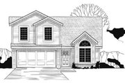 Traditional Style House Plan - 3 Beds 2 Baths 1246 Sq/Ft Plan #67-124 Exterior - Front Elevation