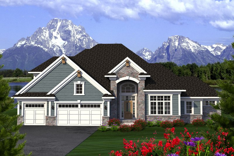 Home Plan - Southern Exterior - Front Elevation Plan #70-1227